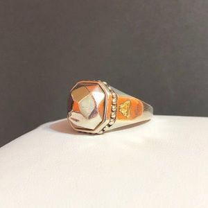 Lagos Rocks Collection 925 & 18K Gold Octagon Ring